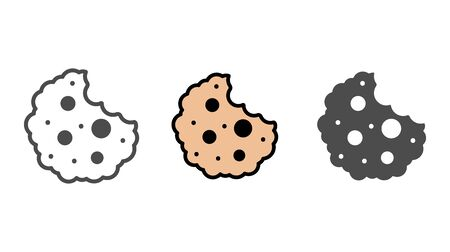 Cookie icon vector, filled flat sign, solid pictogram isolated on white. Symbol, logo illustration.