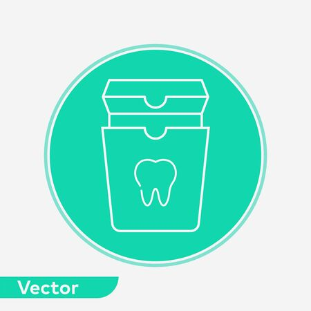 Dental floss icon vector, filled flat sign, solid pictogram isolated on white. Symbol, logo illustration.