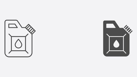 Jerrycan icon vector, filled flat sign, solid pictogram isolated on white. Symbol, logo illustration. Ilustração