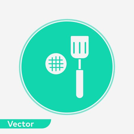 Kitchen spatula icon vector, filled flat sign, solid pictogram isolated on white. Symbol, logo illustration. Illustration