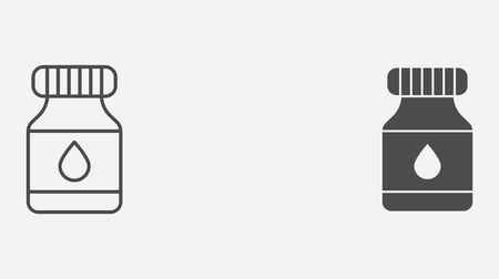 Ink pot icon vector, filled flat sign, solid pictogram isolated on white. Symbol, logo illustration. Foto de archivo - 130388235