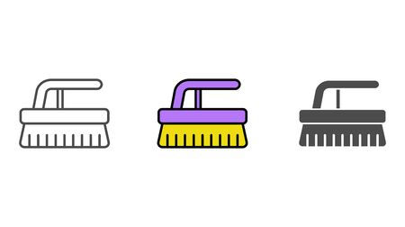 Scrub brush icon vector, filled flat sign, solid pictogram isolated on white