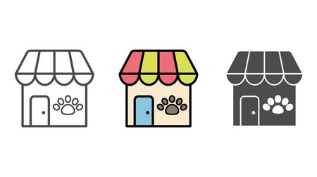 Pet shop icon vector, filled flat sign, solid pictogram isolated on white