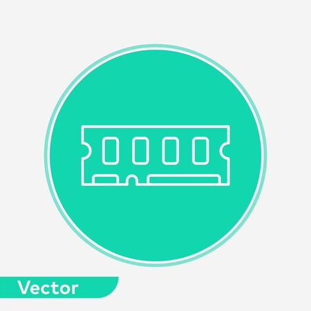 Ram icon vector, filled flat sign, solid pictogram isolated on white