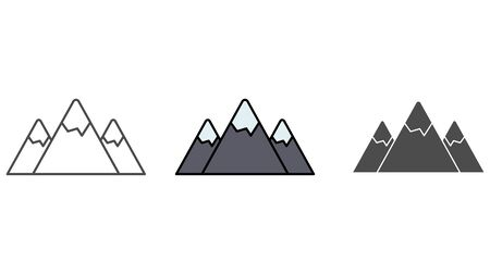 Mountain icon vector, filled flat sign, solid pictogram isolated on white