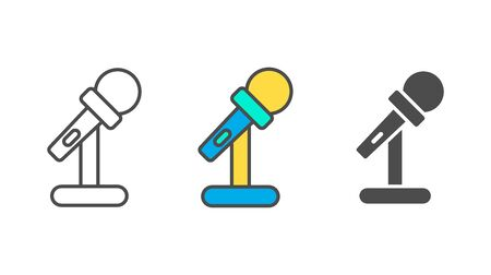 Microphone icon vector, filled flat sign, solid pictogram isolated on white Stock Illustratie