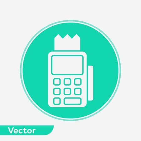 Pos terminal icon vector, filled flat sign, solid pictogram isolated on white