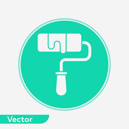 Paint roll icon vector, filled flat sign, solid pictogram isolated on white. Symbol, logo illustration. Çizim