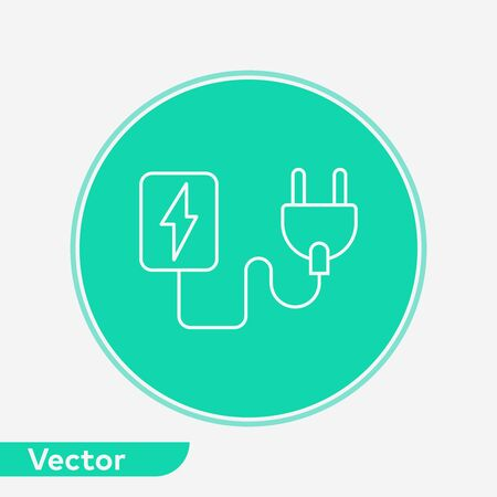 Plug icon vector, filled flat sign, solid pictogram isolated on white. Symbol, logo illustration.
