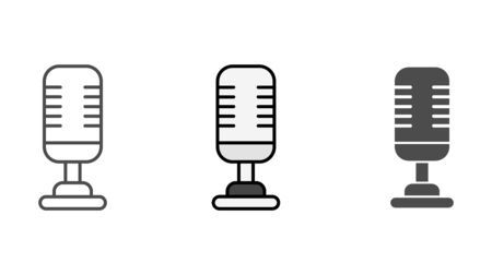Microphone icon vector, filled flat sign, solid pictogram isolated on white. Symbol, logo illustration.