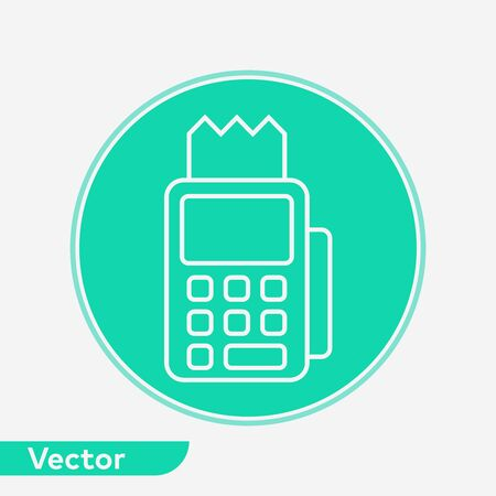 Pos terminal icon vector, filled flat sign, solid pictogram isolated on white. Symbol, logo illustration.