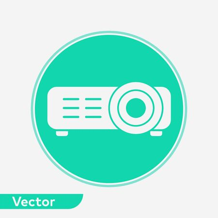 Projector icon vector, filled flat sign, solid pictogram isolated on white. Symbol, logo illustration.