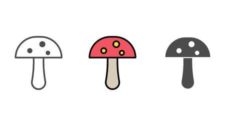 Mushroom icon vector, filled flat sign, solid pictogram isolated on white. Symbol, logo illustration.