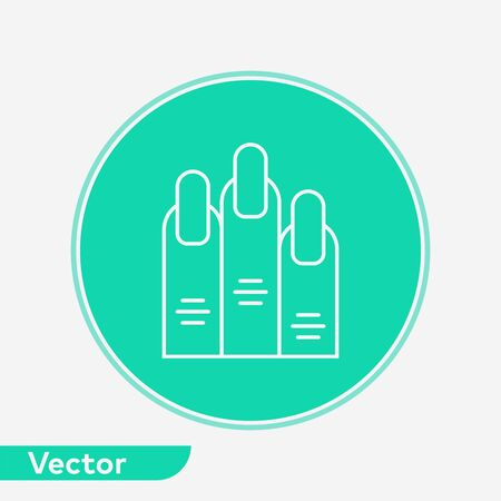 Nail icon vector, filled flat sign, solid pictogram isolated on white. Symbol, logo illustration. Stock fotó - 131885307