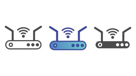Router icon vector, filled flat sign, solid pictogram isolated on white. Symbol, logo illustration. Çizim