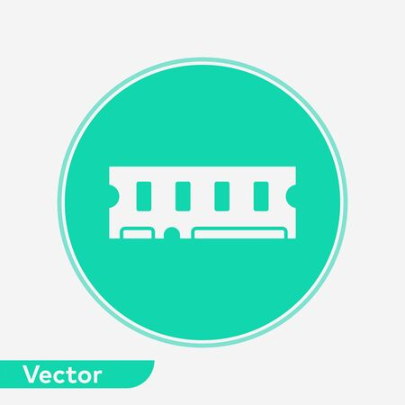 Ram icon vector, filled flat sign, solid pictogram isolated on white. Symbol, logo illustration.