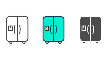 Refrigerator icon vector, filled flat sign, solid pictogram isolated on white. Symbol, logo illustration. Illustration
