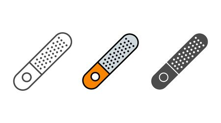 Nail file icon vector, filled flat sign, solid pictogram isolated on white. Symbol, logo illustration. Illustration
