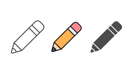 Pencil icon vector, filled flat sign, solid pictogram isolated on white. Symbol, logo illustration.