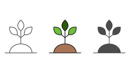 Plant icon vector, filled flat sign, solid pictogram isolated on white. Symbol, logo illustration.