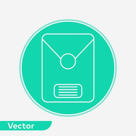 Office envelope icon vector, filled flat sign, solid pictogram isolated on white. Symbol, logo illustration.  イラスト・ベクター素材