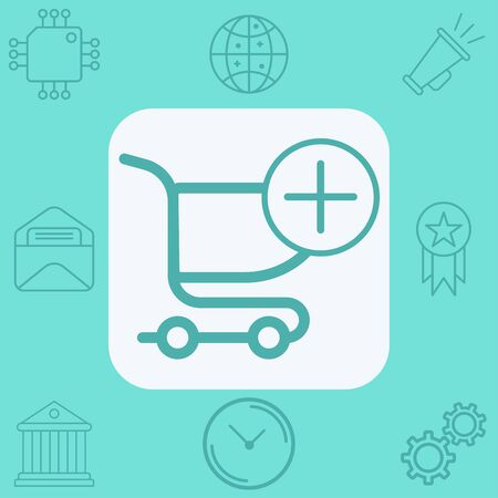 Shopping cart icon vector, filled flat sign, solid pictogram isolated on white. Symbol, logo illustration.