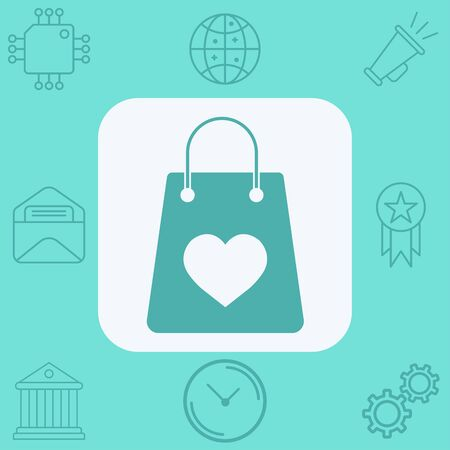 Shopping bag icon vector, filled flat sign, solid pictogram isolated on white. Symbol, logo illustration.