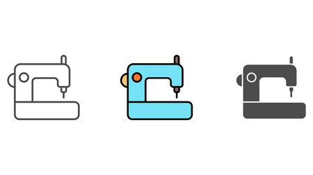 Sewing machine icon vector, filled flat sign, solid pictogram isolated on white. Symbol, logo illustration.