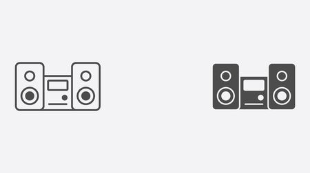 Sound system icon vector, filled flat sign, solid pictogram isolated on white. Symbol, illustration. Иллюстрация
