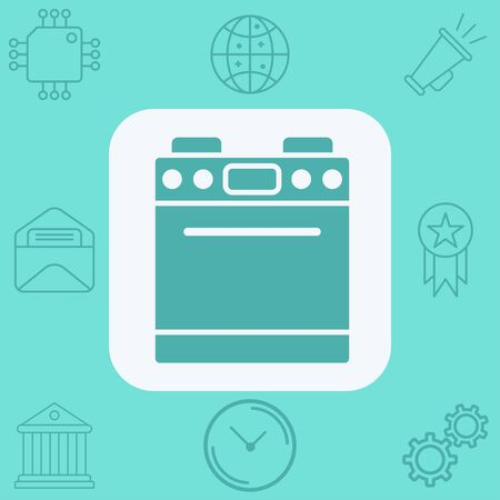 Stove icon vector, filled flat sign, solid pictogram isolated on white. Symbol,   illustration.