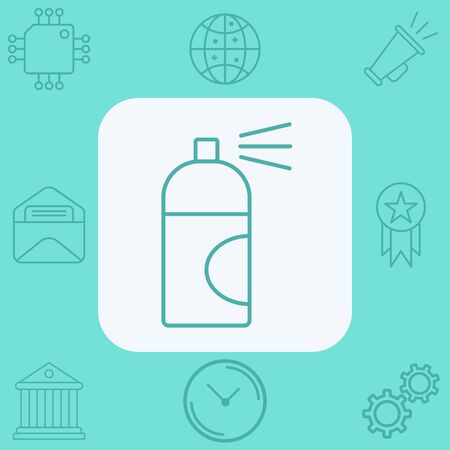 Spray paint icon vector, filled flat sign, solid pictogram isolated on white. Symbol, illustration. Vettoriali