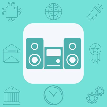 Sound system icon vector, filled flat sign, solid pictogram isolated on white. Symbol,  illustration.
