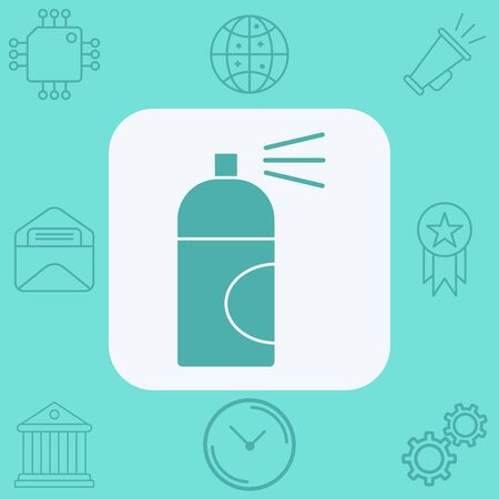Spray paint icon vector, filled flat sign, solid pictogram isolated on white. Symbol,  illustration.