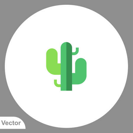 Cactus icon sign vector, Symbol illustration for web and mobile