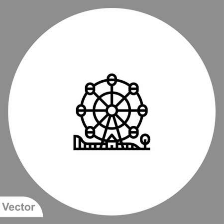 Ferris wheel icon sign vector, symbol illustration for web and mobile