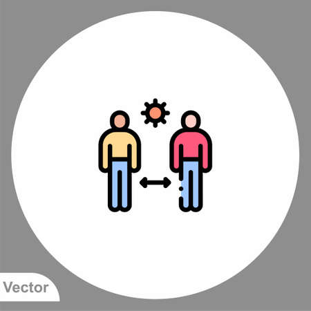 Keep distance icon sign vector, Symbol illustration for web and mobile