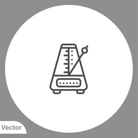 Metronome icon sign vector, Symbol illustration for web and mobile
