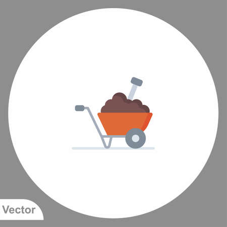 Wheelbarrow icon sign vector, Symbol illustration for web and mobile Çizim