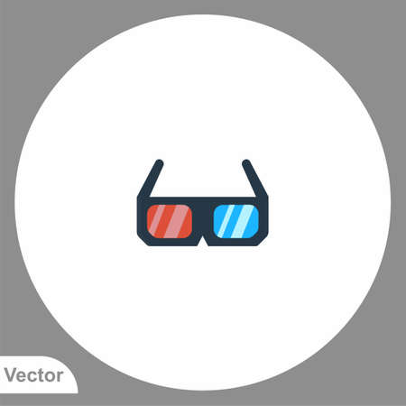 3d glasses icon sign vector, Symbol illustration for web and mobile Illustration