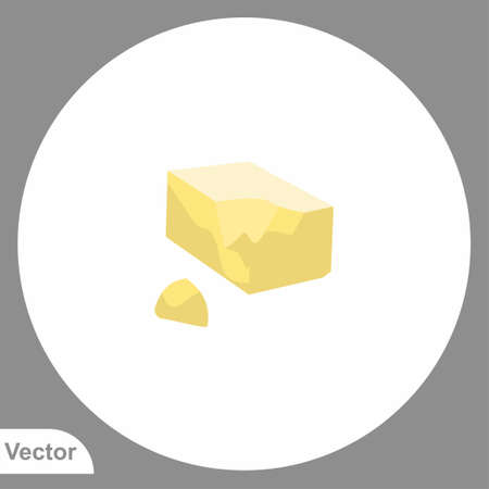 Butter icon sign vector, Symbol, illustration for web and mobile Ilustracja