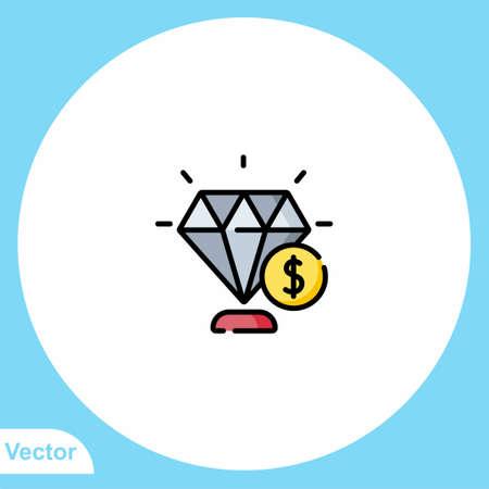 Diamond vector icon sign symbol Ilustrace