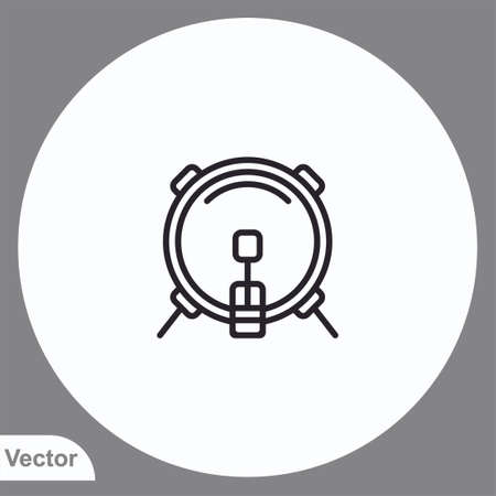 Drums vector icon sign symbol Ilustrace