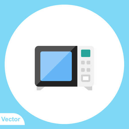 Microwave flat vector icon sign symbol Ilustracja