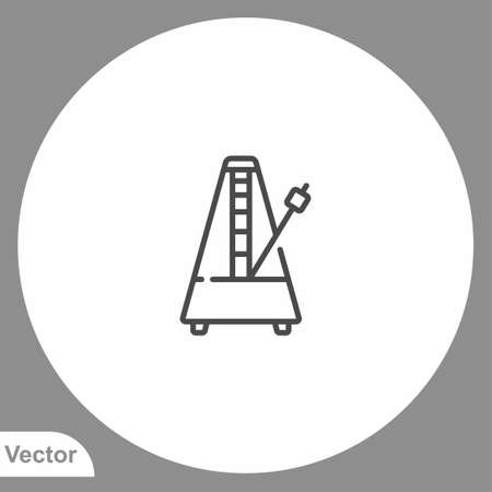 Metronome icon sign vector, Symbol, illustration for web and mobile Stock Illustratie