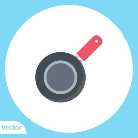 Frying pan vector icon sign symbol
