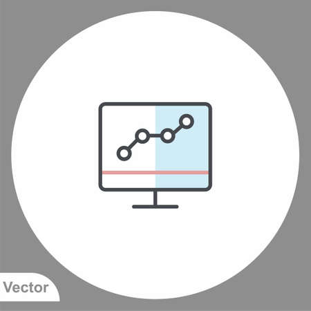 Monitor icon sign vector, Symbol, illustration for web and mobile