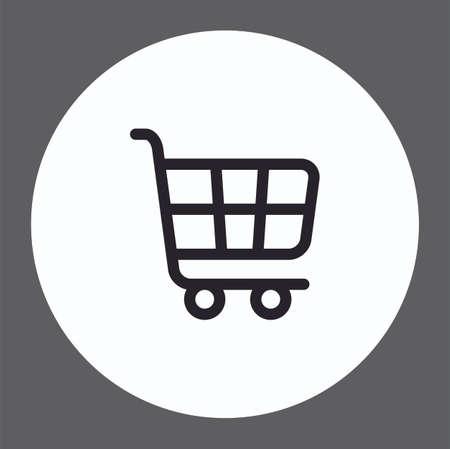 Shopping cart vector icon sign symbol Çizim