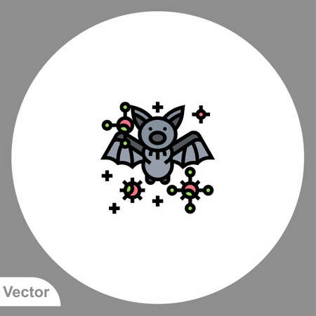 Bat icon sign vector, Symbol, illustration for web and mobile