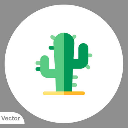 Cactus icon sign vector, Symbol, illustration for web and mobile