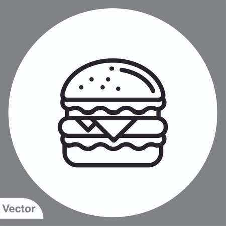 Burger vector icon sign symbol Ilustracja